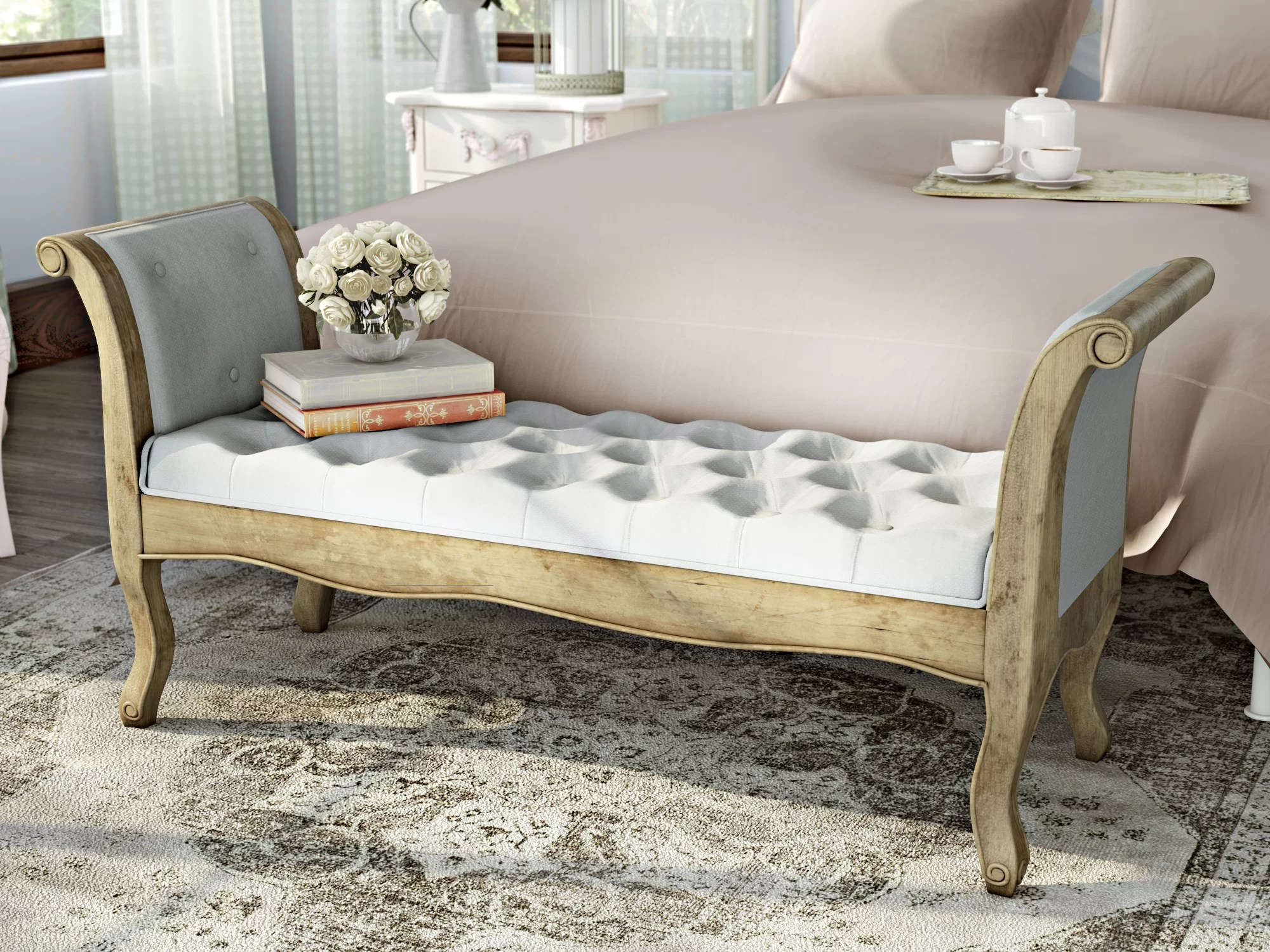 gepolsterte schlafzimmerbank aksel