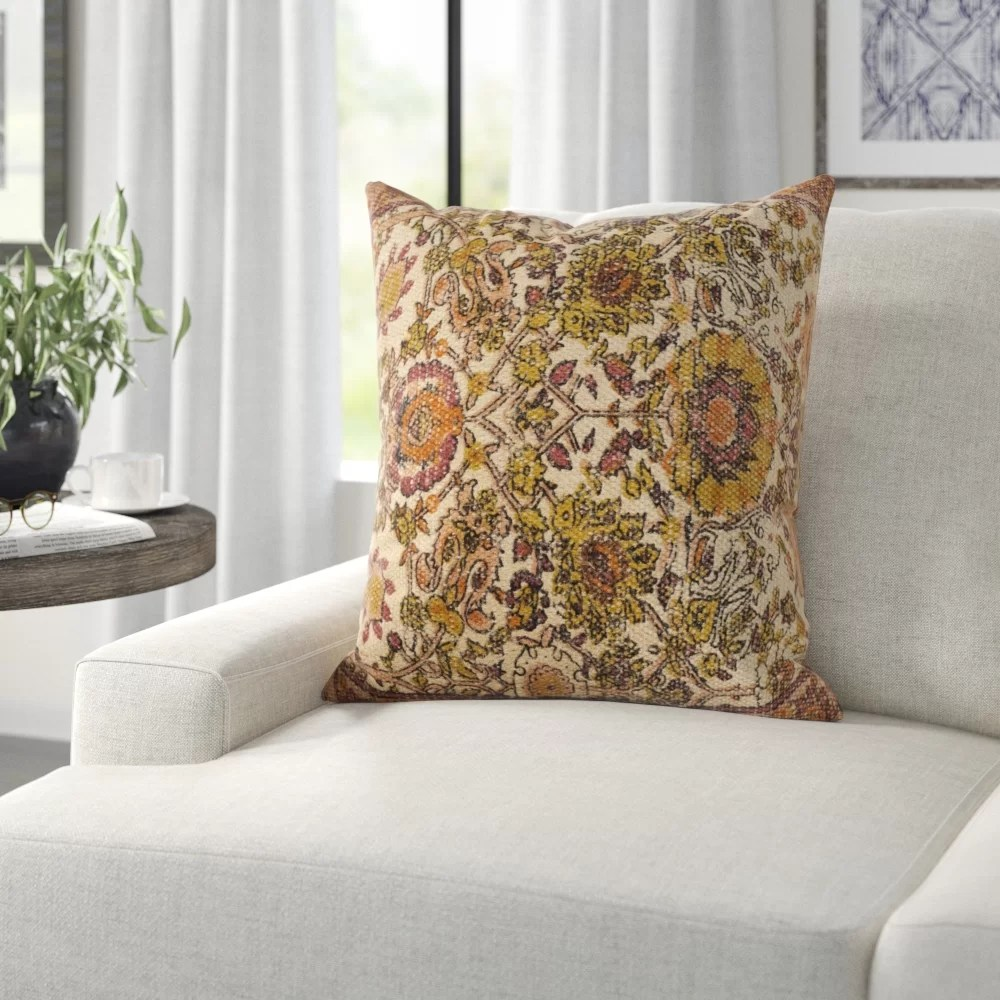 Three Posts Middlesbrough Floral Throw Pillow Cover Reviews Wayfair