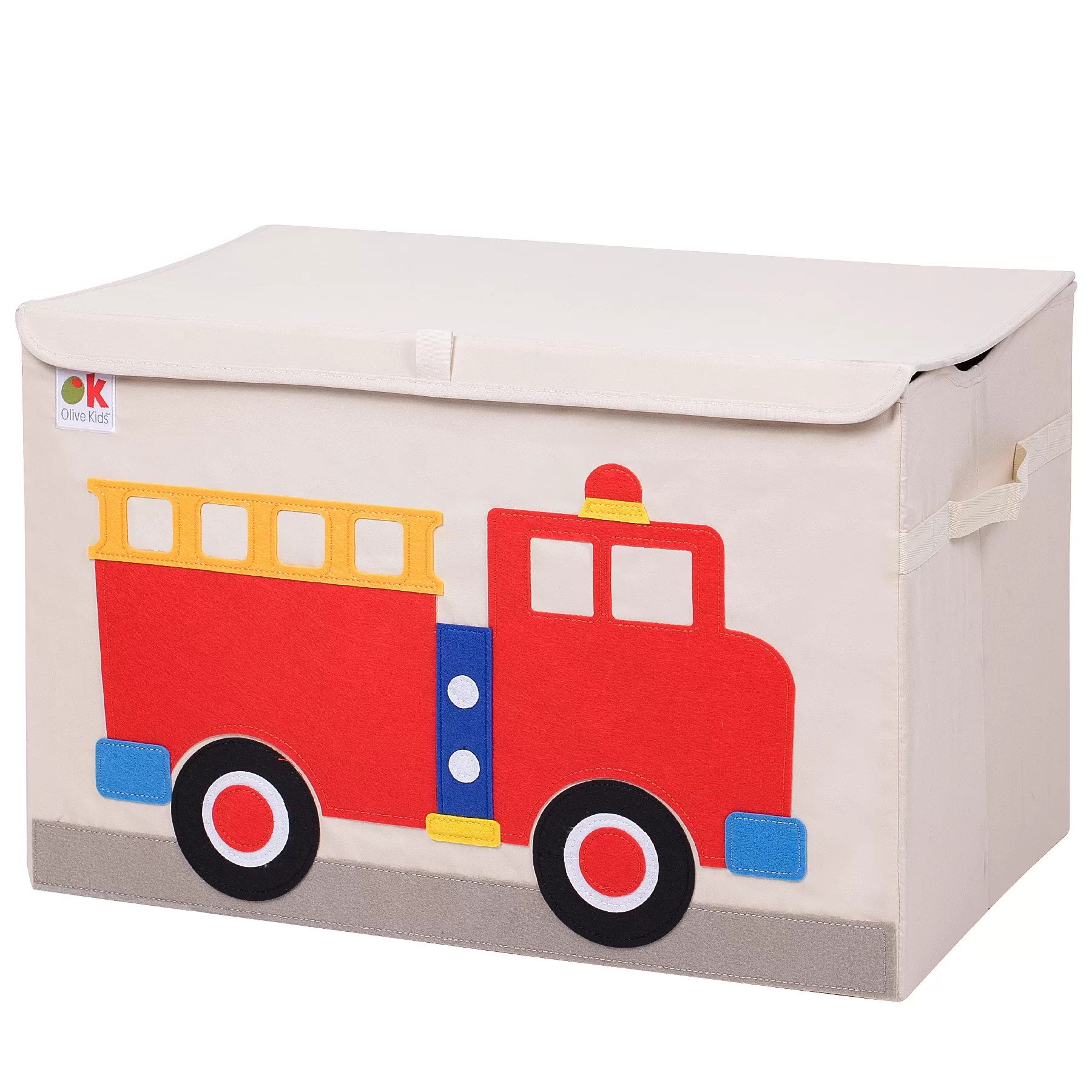 Toy Box Toys Olive Kids Fire Truck Toy Box