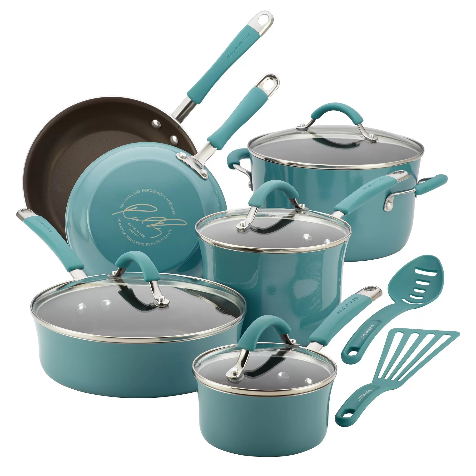 Cucina Kitchen Products Wayfair Rachael Ray Cucina 12 Piece Non Stick Cookware Set