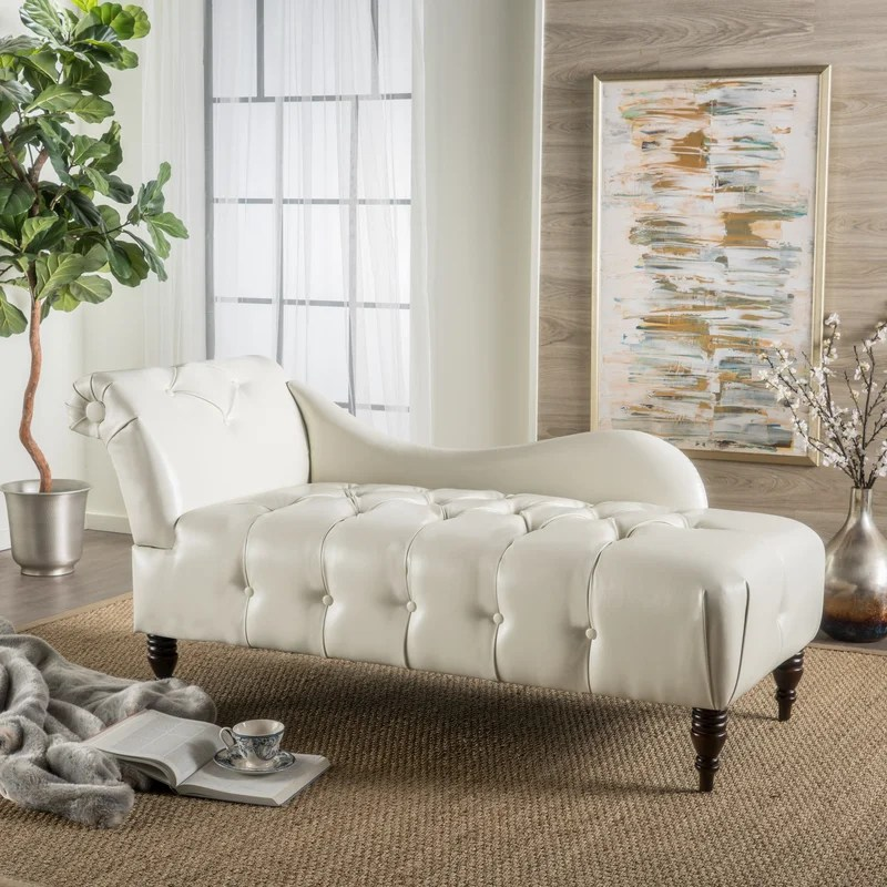 Mercer41™ Hurd Chaise Lounge \ Reviews Wayfair - living room chaise lounge
