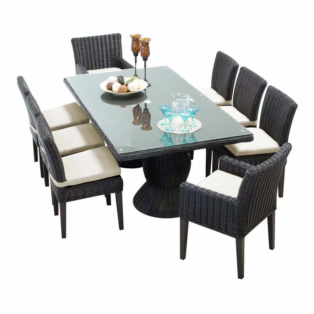9 Piece Outdoor Dining Set Fairfield 9 Piece Dining Set With Cushions