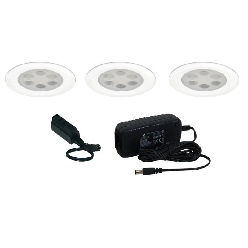 Jesco Lighting Slim Disk LED Under Cabinet Recessed Light Kit Wayfair