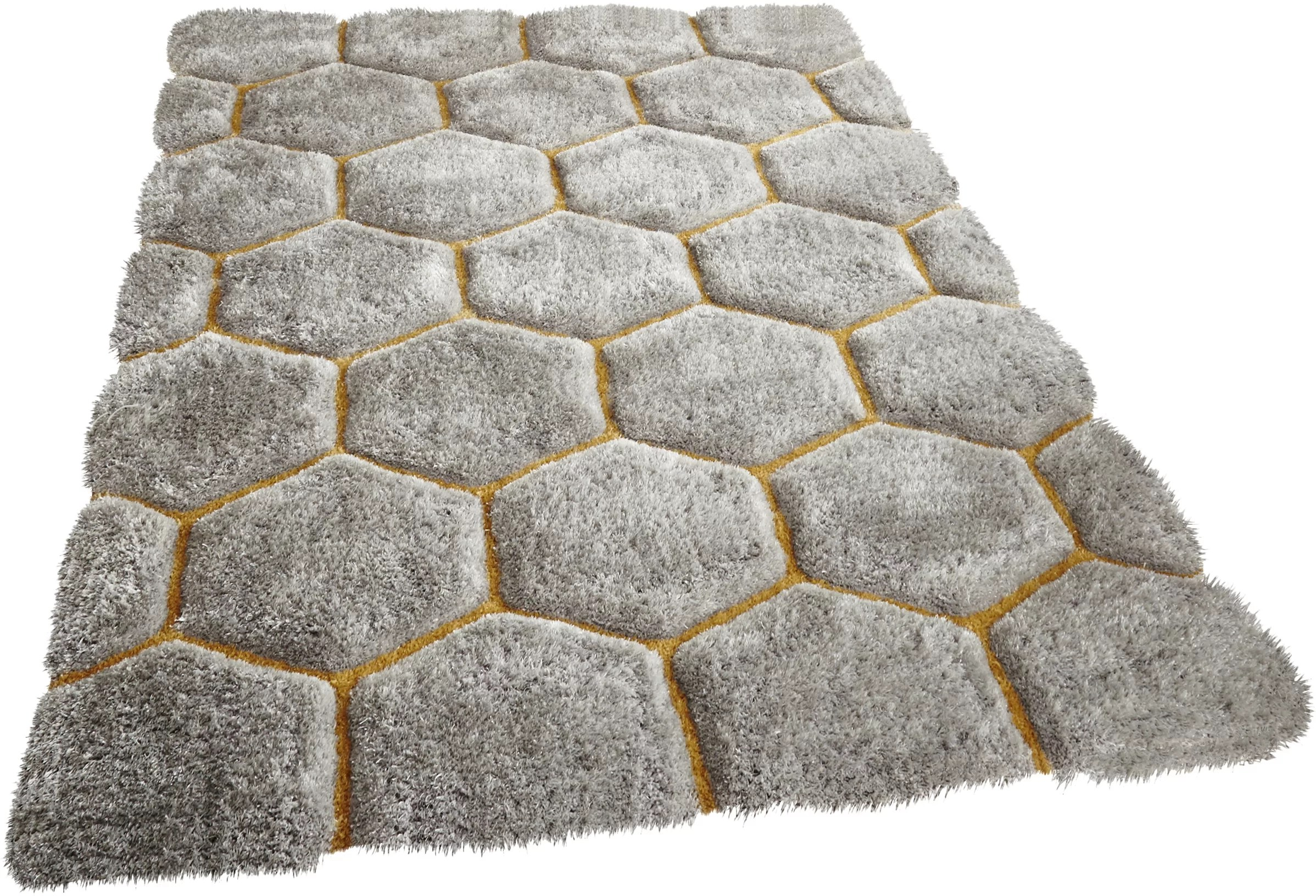 Handtuft Teppiche Mindy Hand Tufted Grey Yellow Area Rug