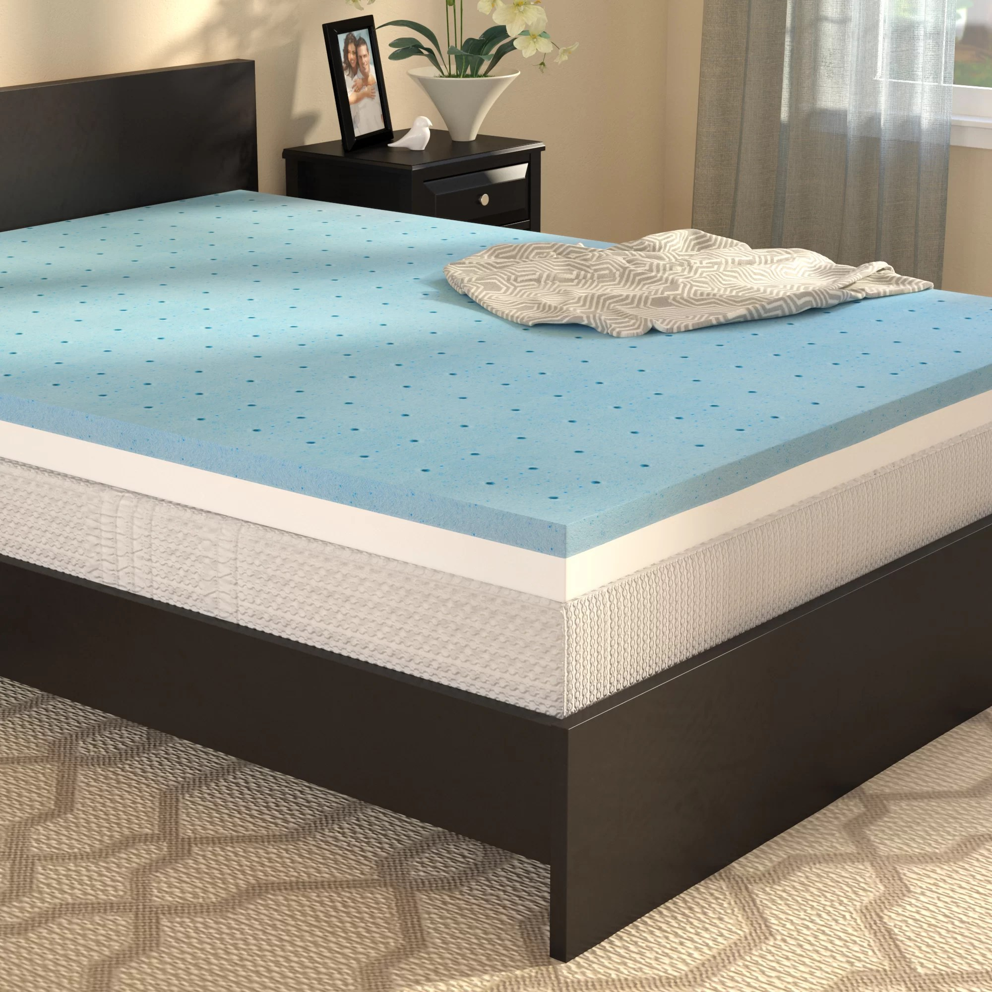 Memory Foam Mattress Toppers Queen 4