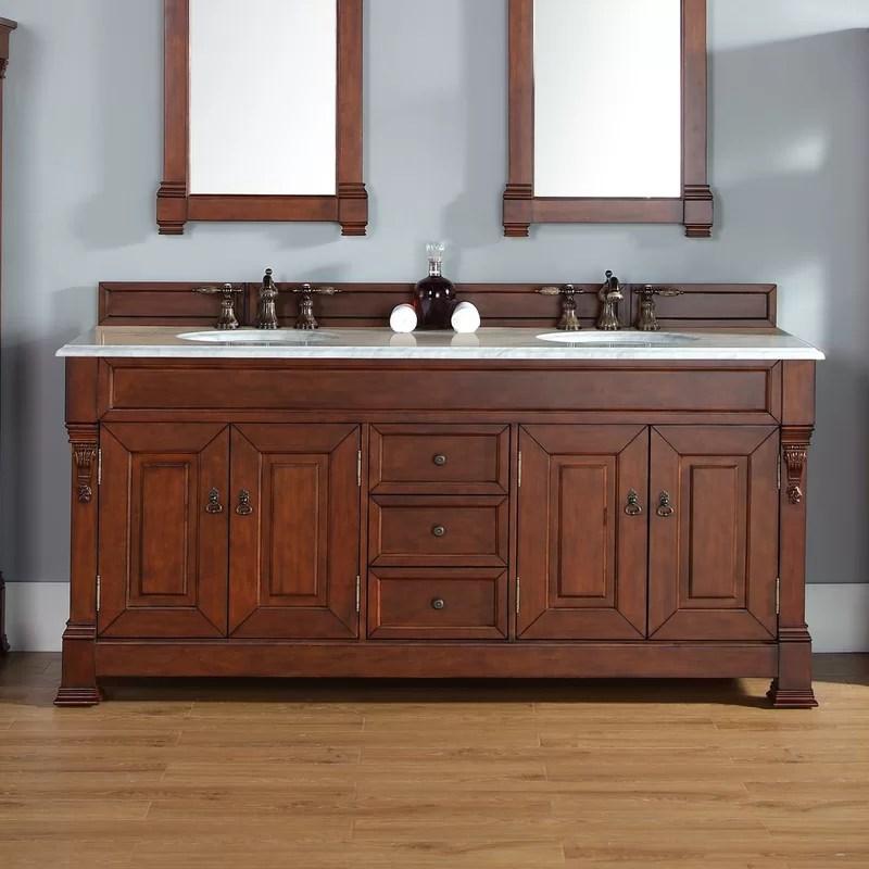 Darby Home Co Bedrock 72   Oak Bathroom Vanities