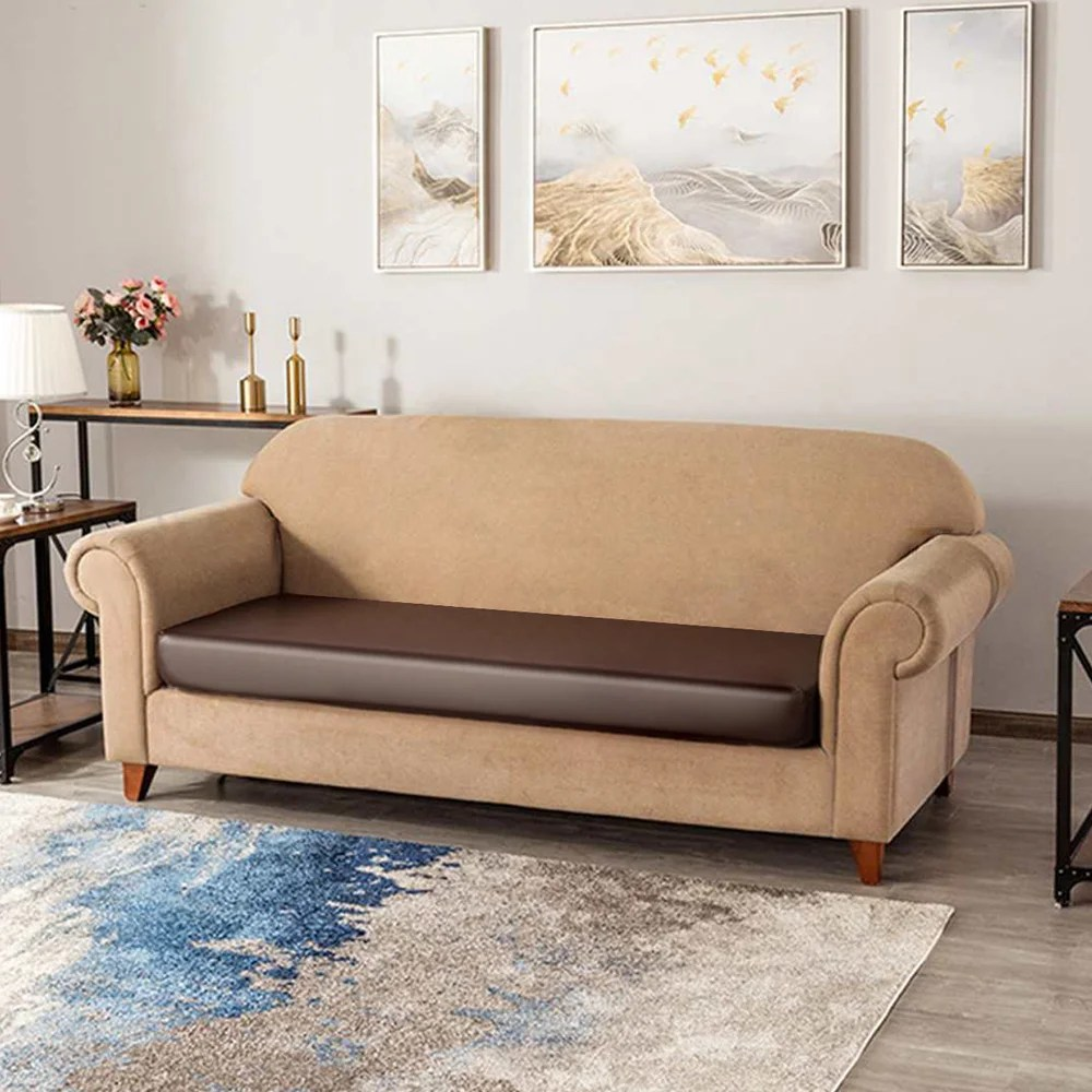 Latitude Run Faux Leather Stretchy Sofa Seat Cushion Cover Chair Couch Loveseat Slipcovers In 27 5