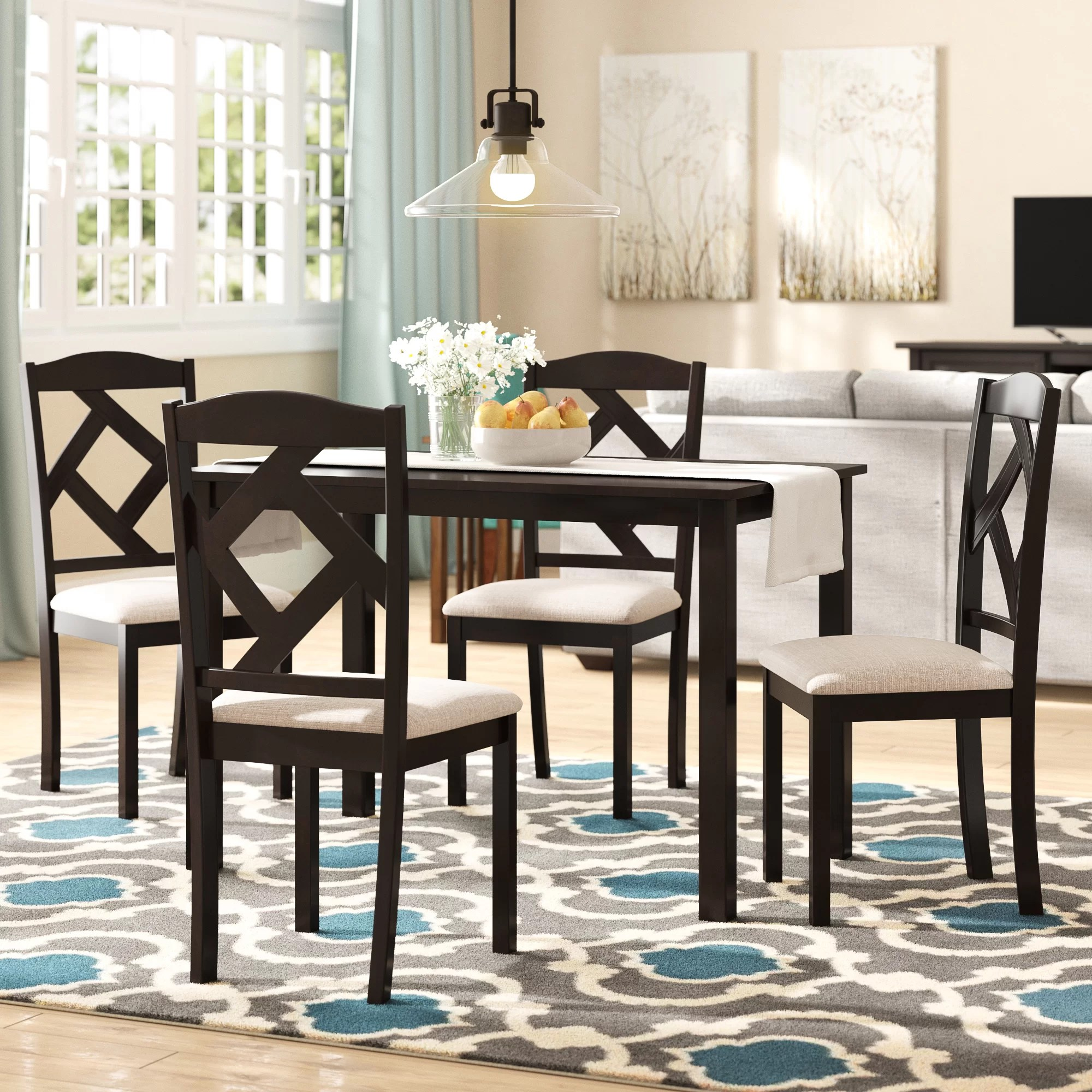 Modern Dining Set Goosman Modern And Contemporary 5 Piece Breakfast Nook Dining Set