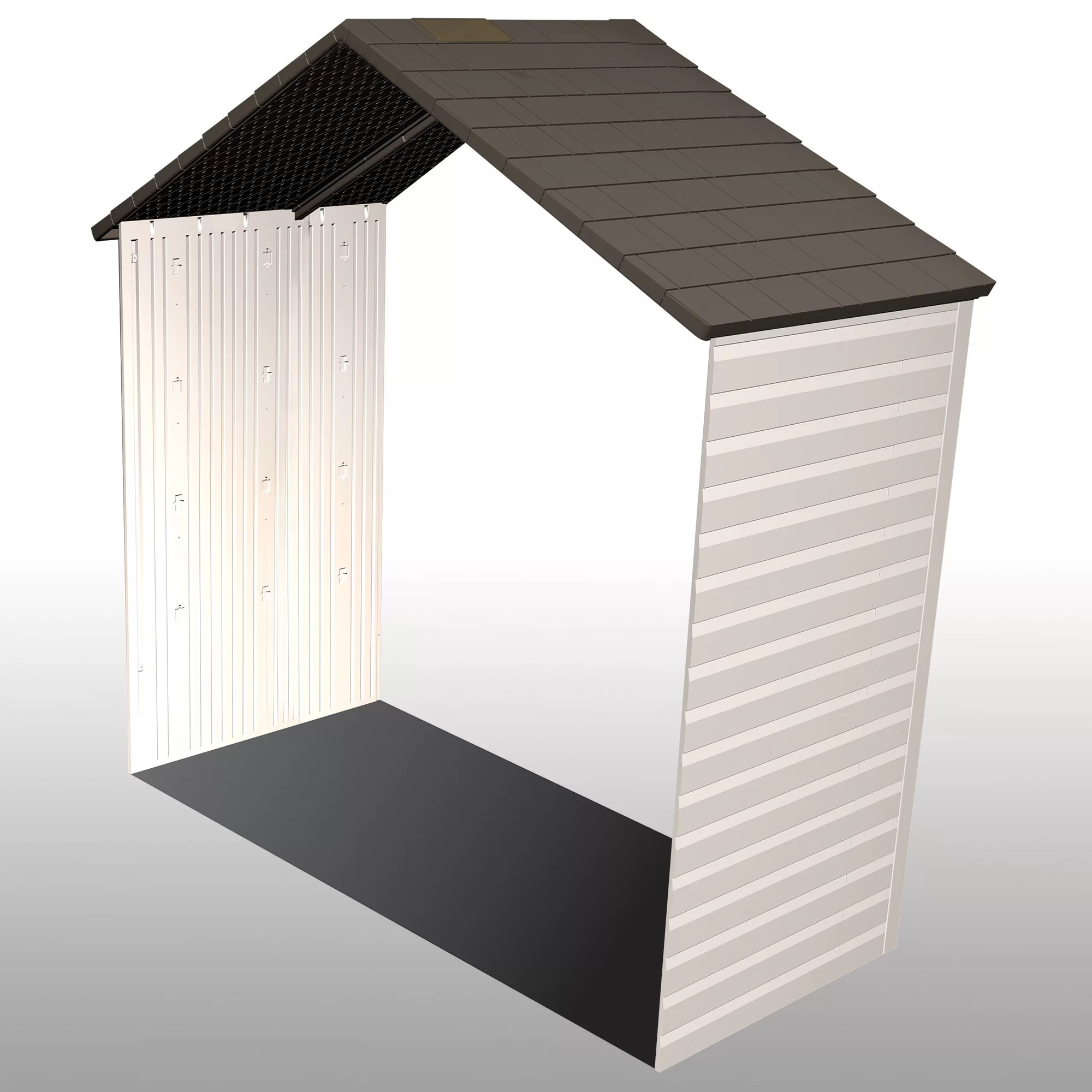 Garage Awning Extension 8 W X 2 5 D Shed Extension Kit
