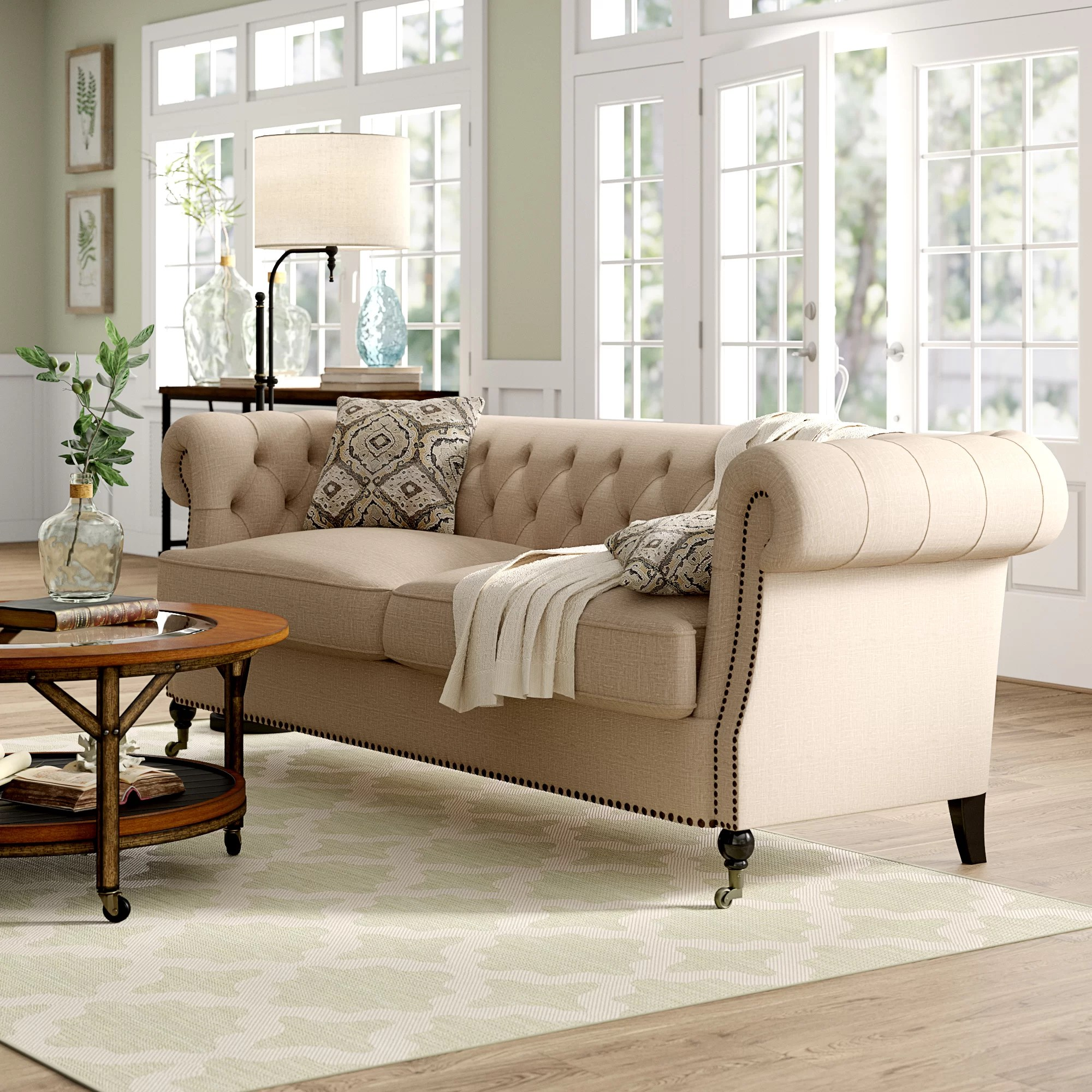 Sofa In Chesterfield Look Calila Chesterfield Sofa