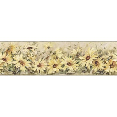 Brewster Home Fashions The Cottage Regal Sunflowers 15' x 6
