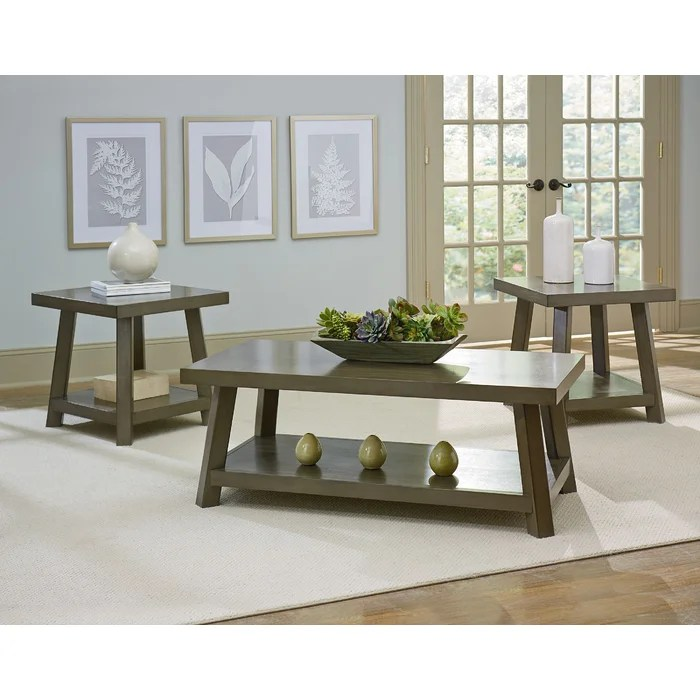 Red Barrel Studio North York 3 Piece Coffee Table Set Wayfair - 3 piece living room table set