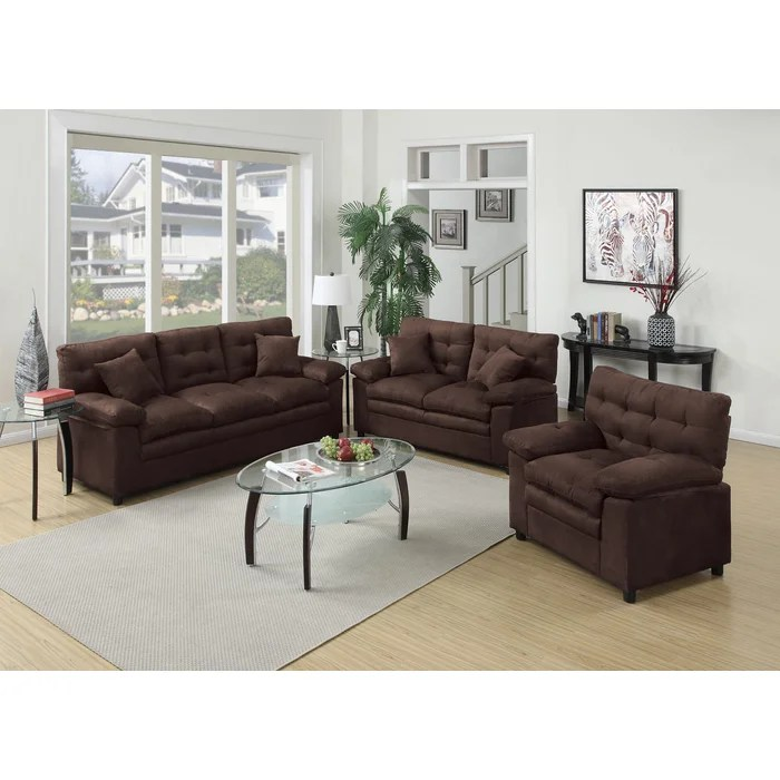 Red Barrel Studio Kingsport 3 Piece Living Room Set \ Reviews - 3 piece living room table set