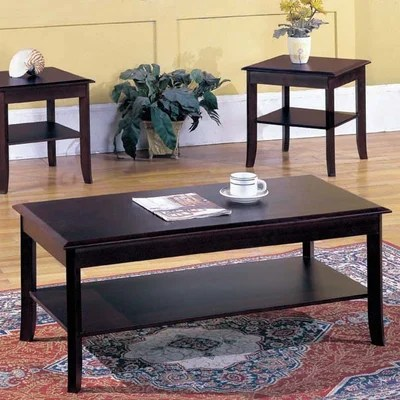 Andover Mills Jessica 3-Piece Coffee Table Set \ Reviews Wayfair - 3 piece living room table set