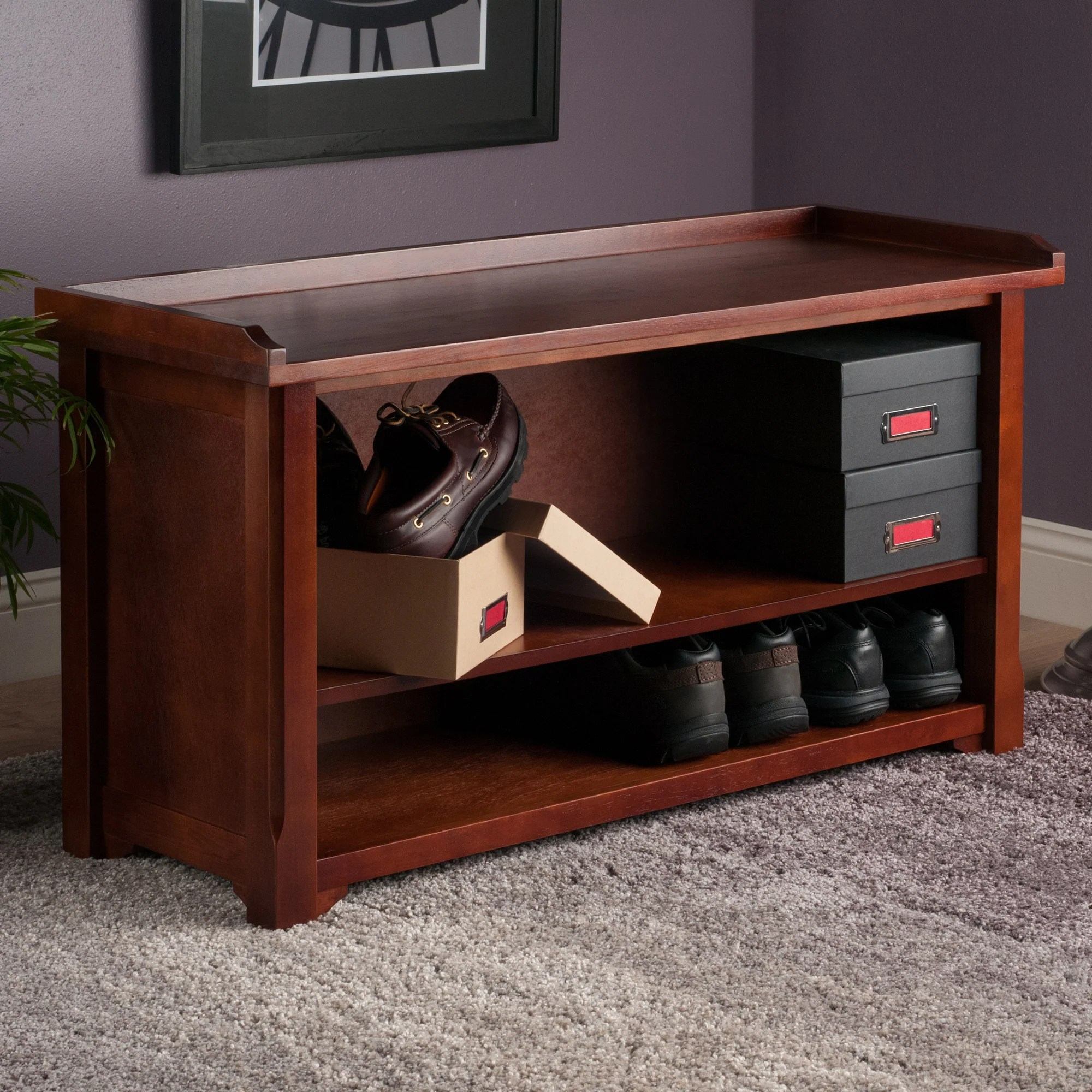 Wooden Storage Bench Details About Alcott Hill Alasan Wooden Storage Bench Alct4976