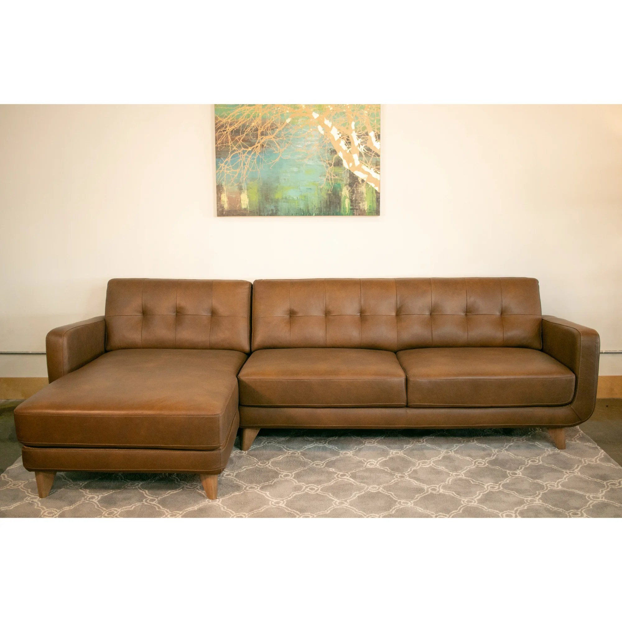 Genuine Leather Sectional Canada Details About Corrigan Studio Elva Leather Sectional