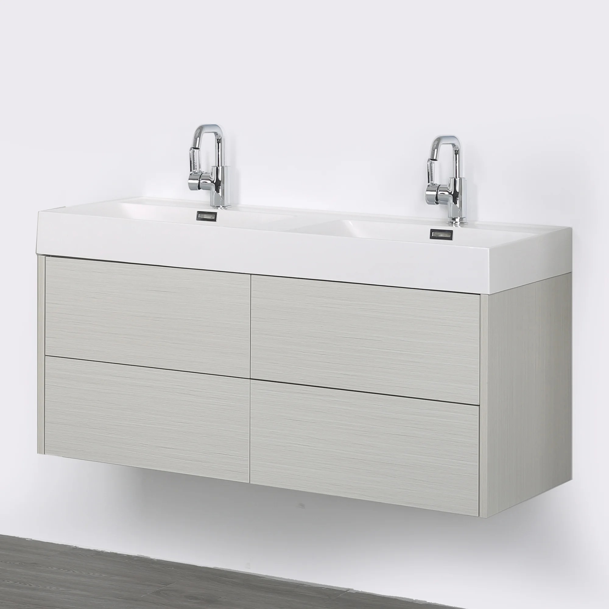 Wall Mount Double Vanity Details About Streamline Bath 47