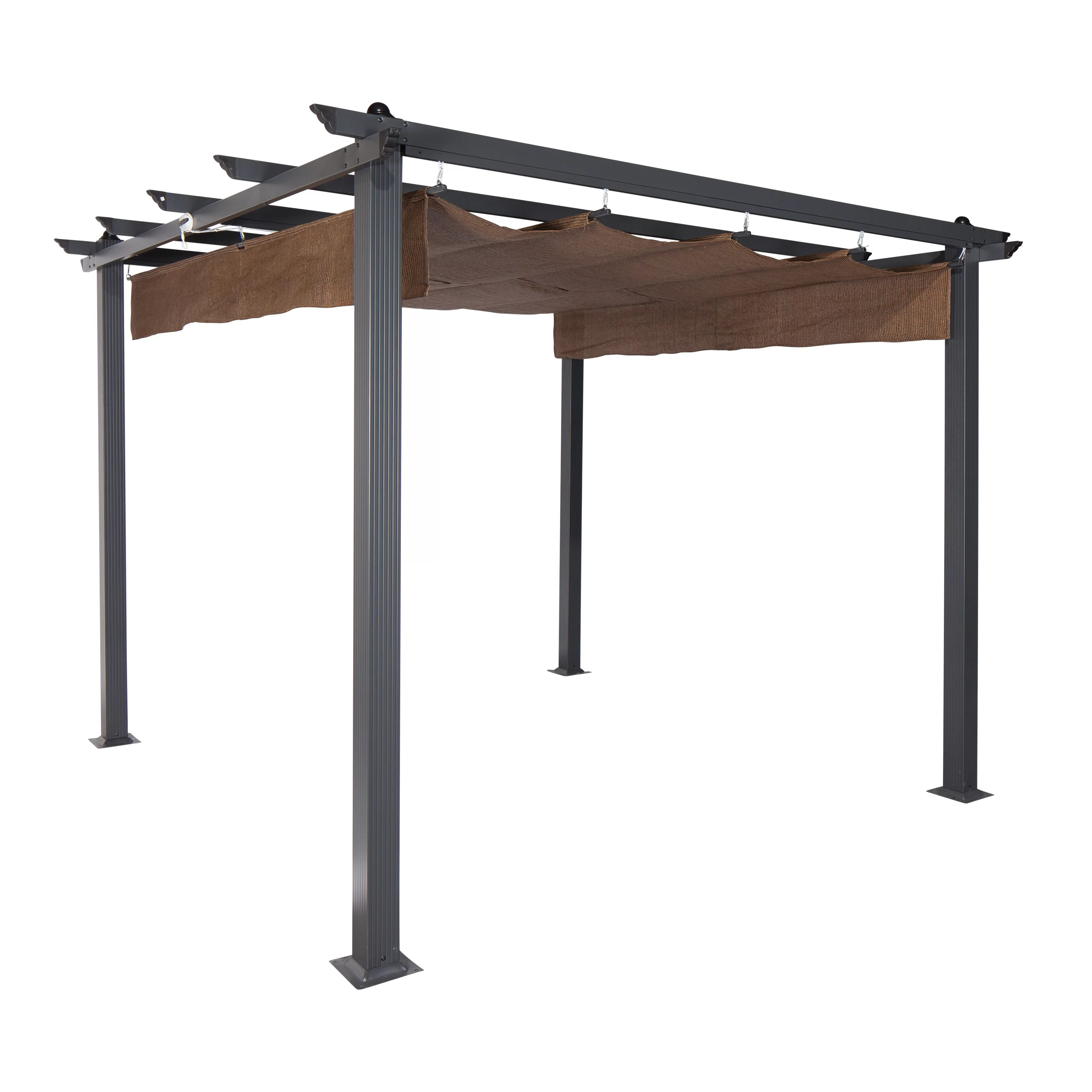 Pavillon Roller Coolaroo Constantine 9 Ft W X 9 Ft D Pergola And Reviews