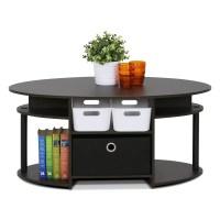 Furinno Furinno JAYA Simple Design Oval Coffee Table with ...