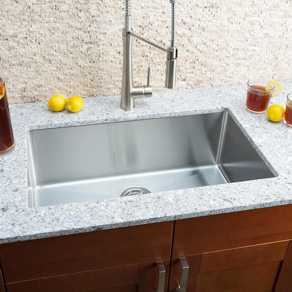 Hahn Chef Series 30 x 18 Single Bowl Undermount Kitchen Sink
