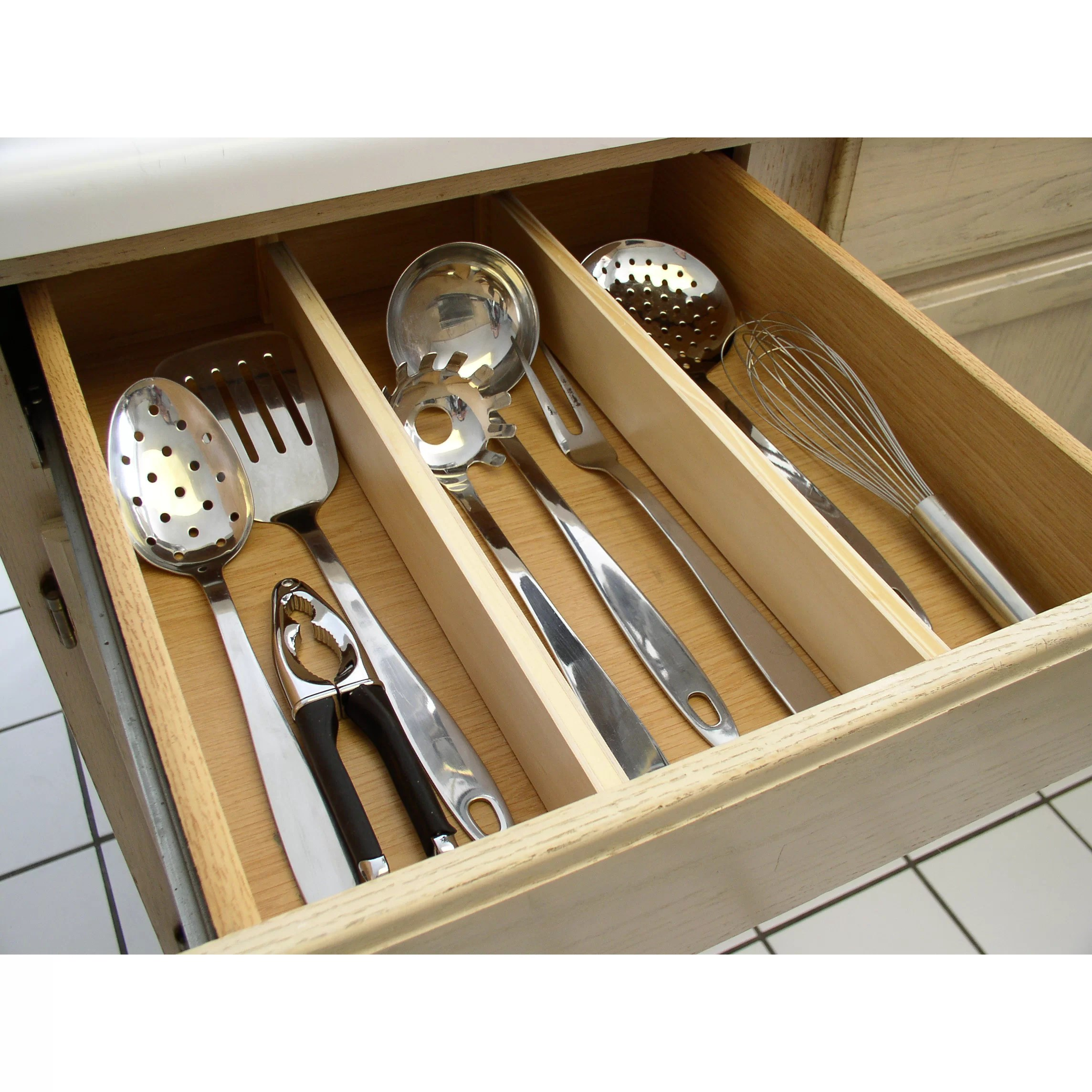 ybm home kitchen expandable compartment utensil drawer organizer home interiors simple effective kitchen drawer organizer