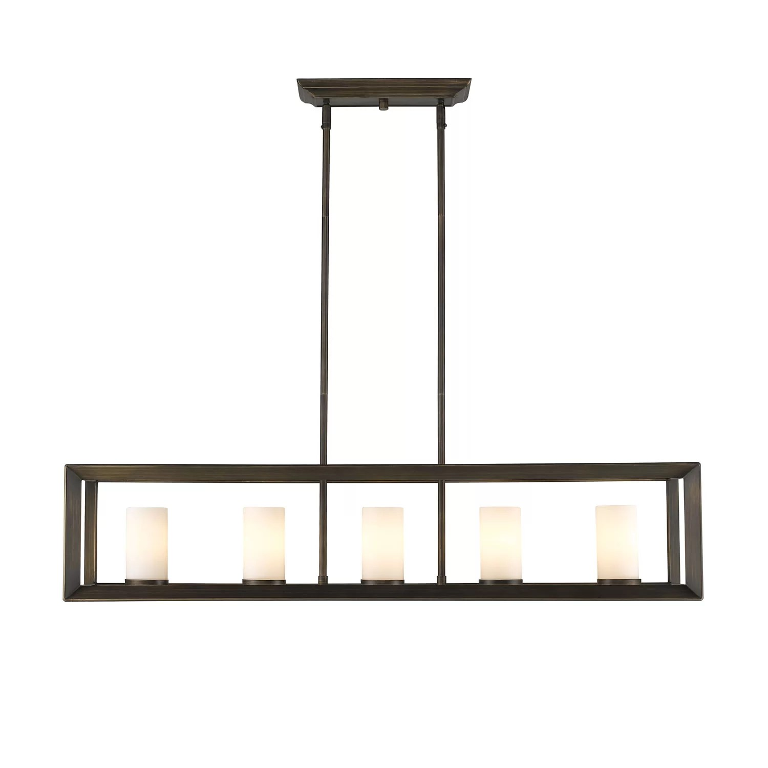 island lights c kitchen island light Ginsberg 5 Light Kitchen Island Pendant