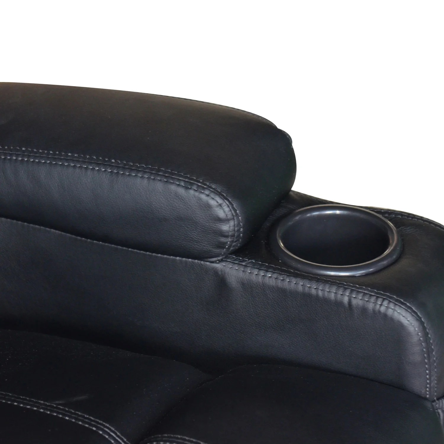 Kinosessel Vibration Outsunny Homcom Deluxe Heated Vibrating Vinyl Leather
