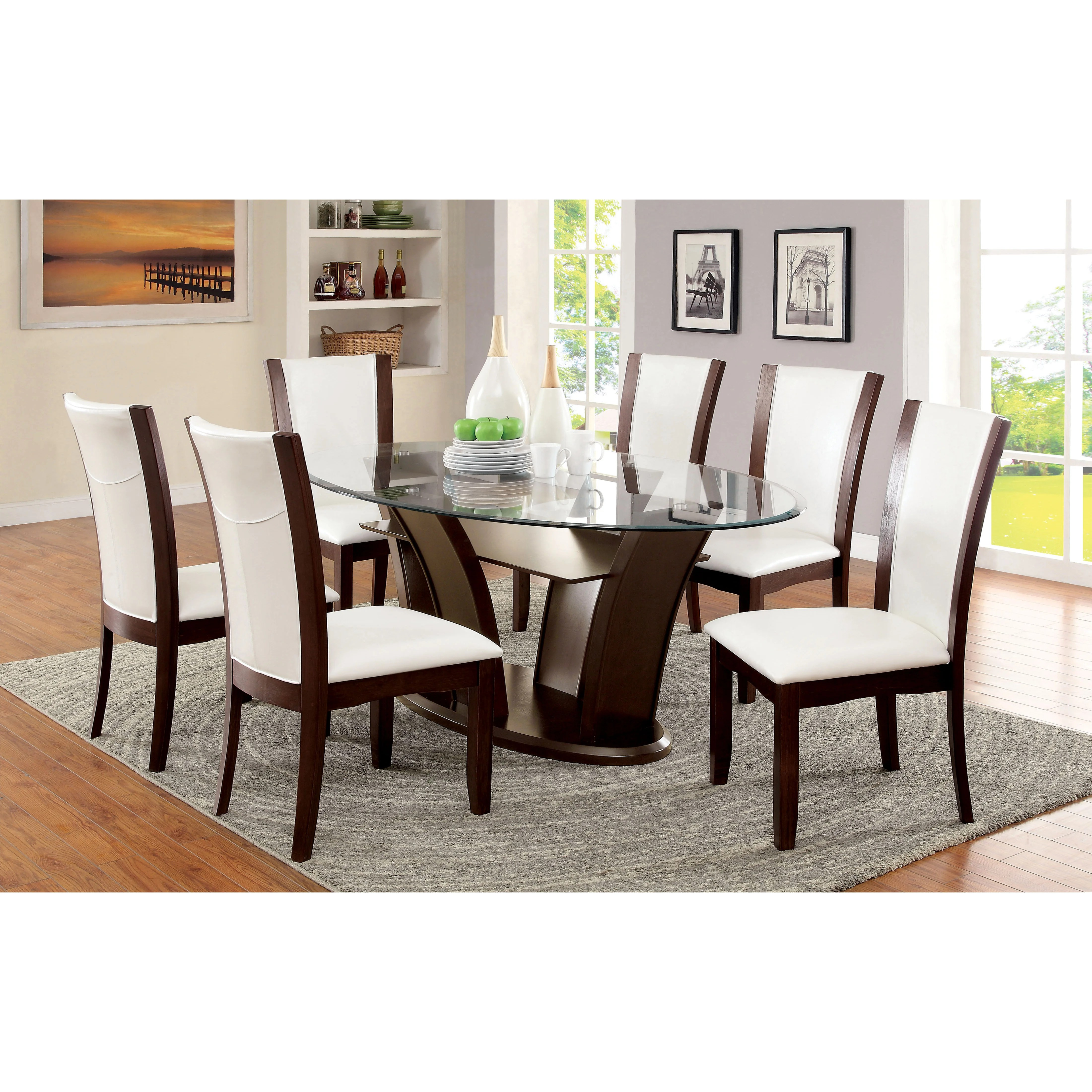glass kitchen dining tables c a~ wayfair kitchen chairs Cushing Dining Table