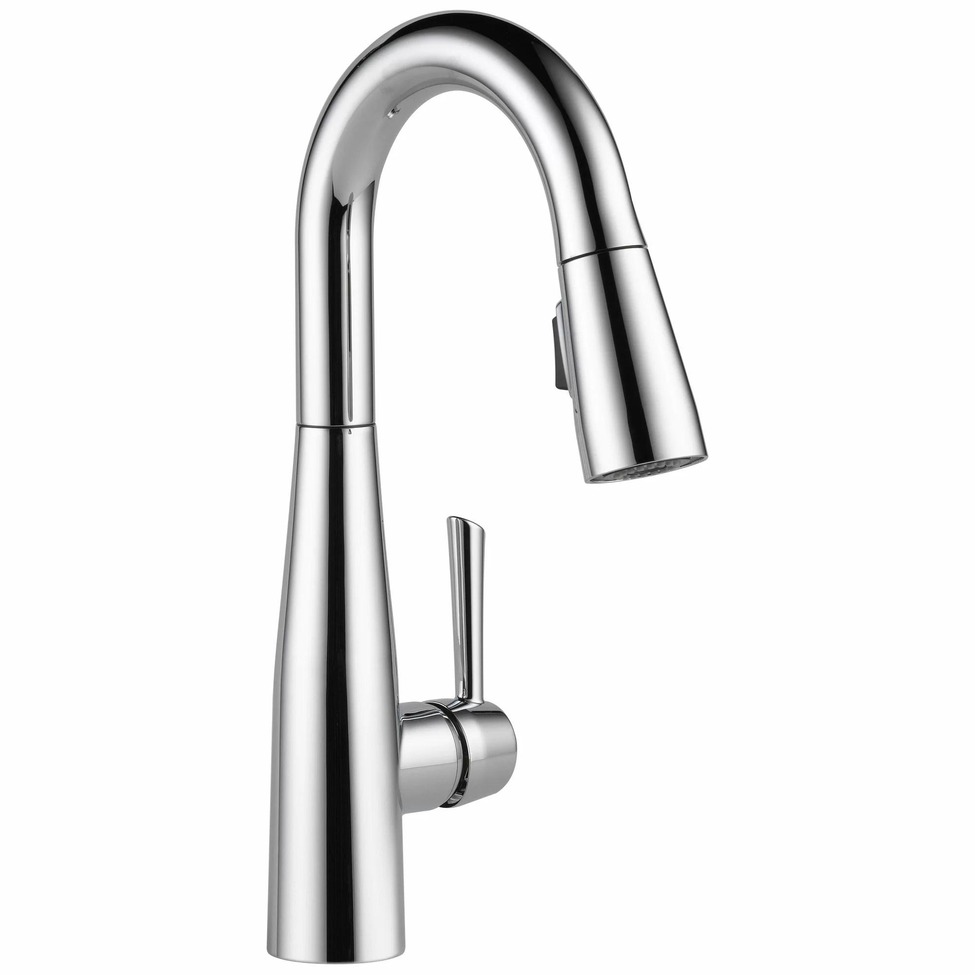 kitchen faucets c widespread kitchen faucet Essa Single Handle Pull Down Bar Faucet