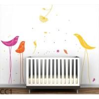 LittleLion Studio Color Block Carnival Birds Wall Decal ...