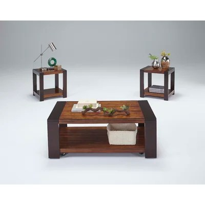 Brayden Studio Hayley 3 Piece Coffee Table Set \ Reviews Wayfair - 3 piece living room table set