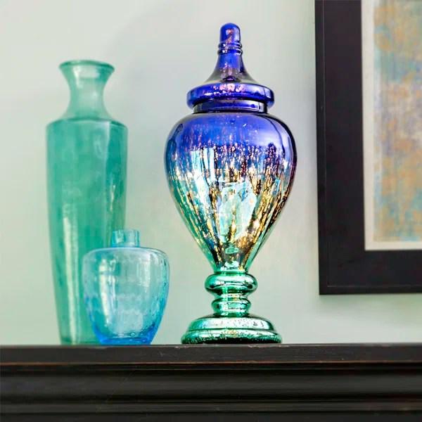 Poetic Wanderlust Decorative Meadowlark Mercury Glass