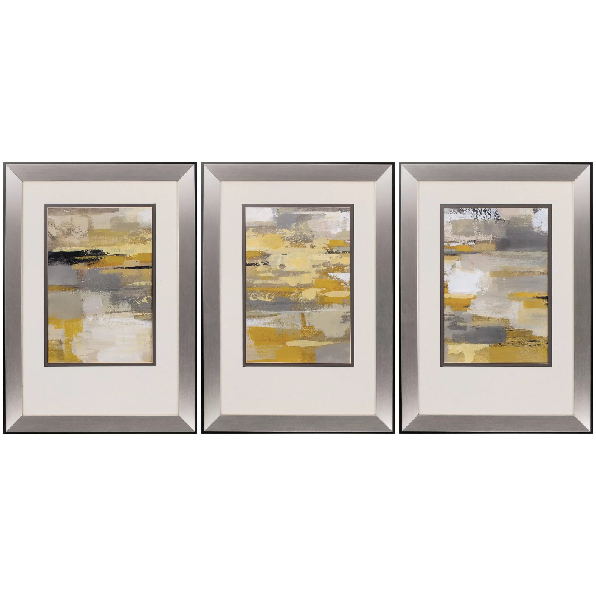 Framed Wall Art Sets Of 3 Propac Images Urban Walkway 3 Piece Framed Graphic Art Set