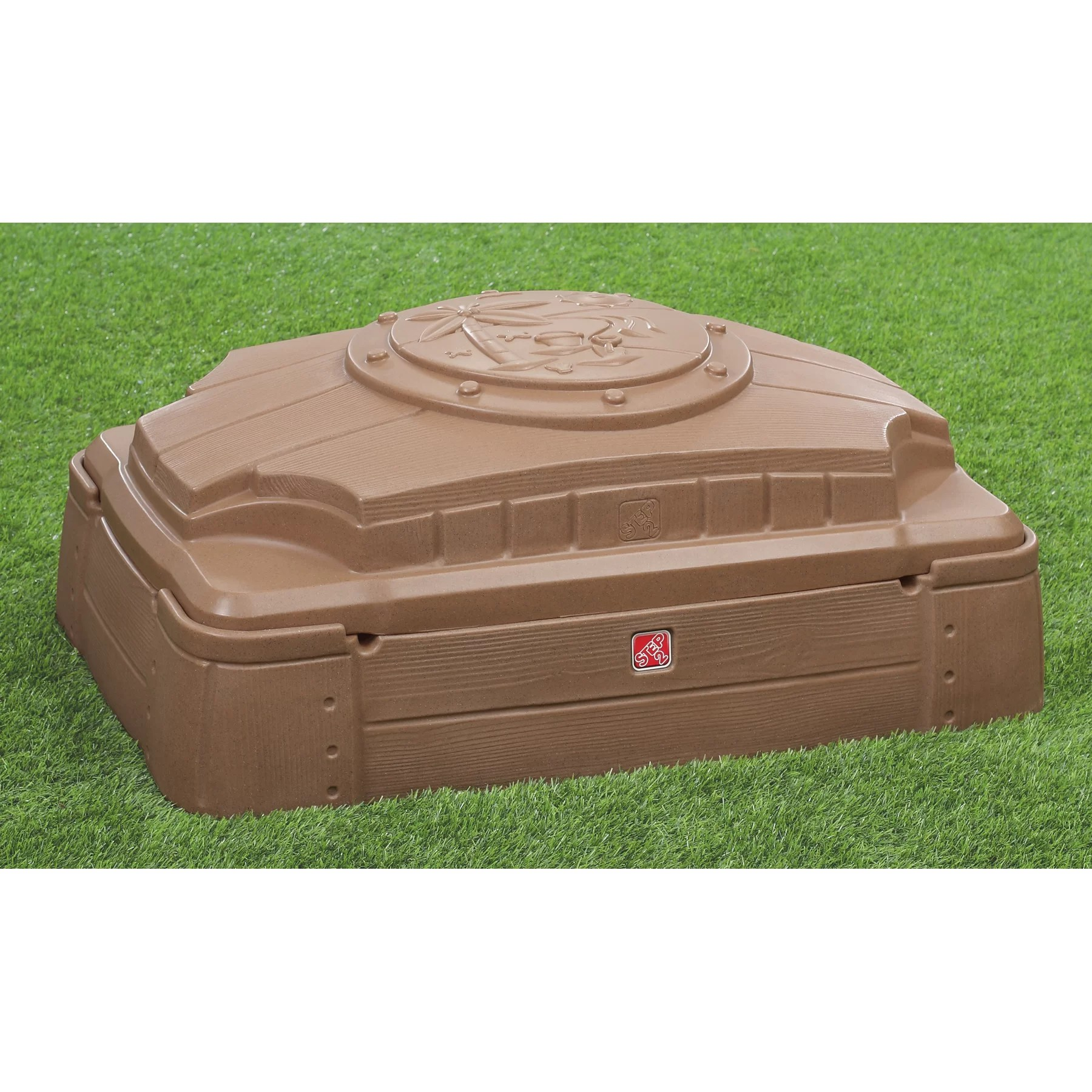 Step2 Play And Store 239 Rectangular Sandbox With Cover