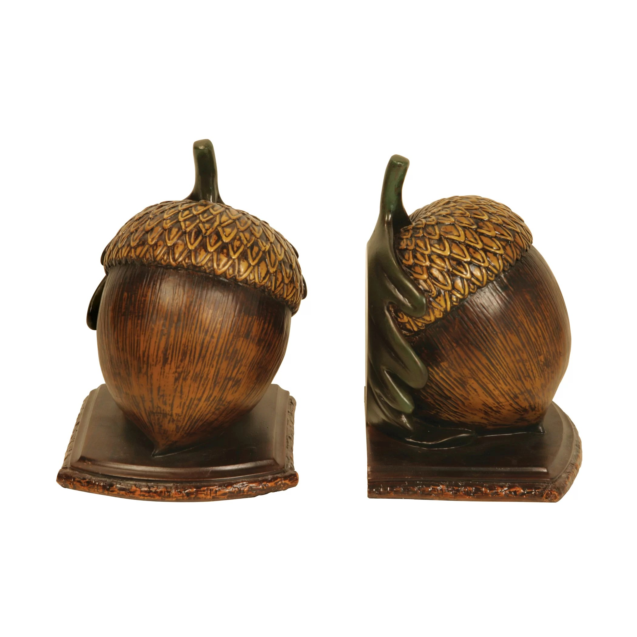 Kitchen Bookends Sterling Industries Muir Wood Acorn Book Ends And Reviews