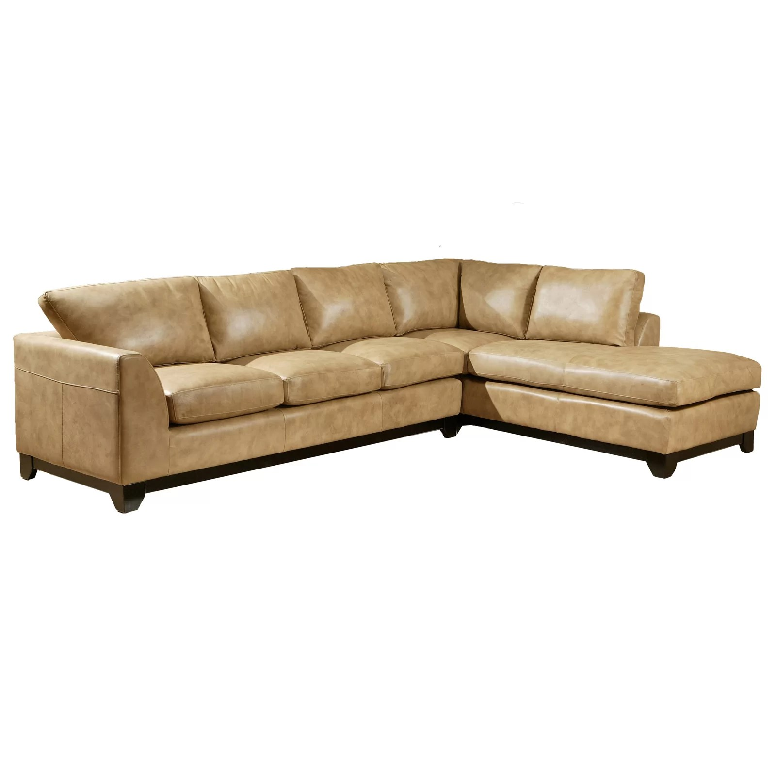 Sleek Leather Couch Omnia Leather City Sleek Sectional Wayfair