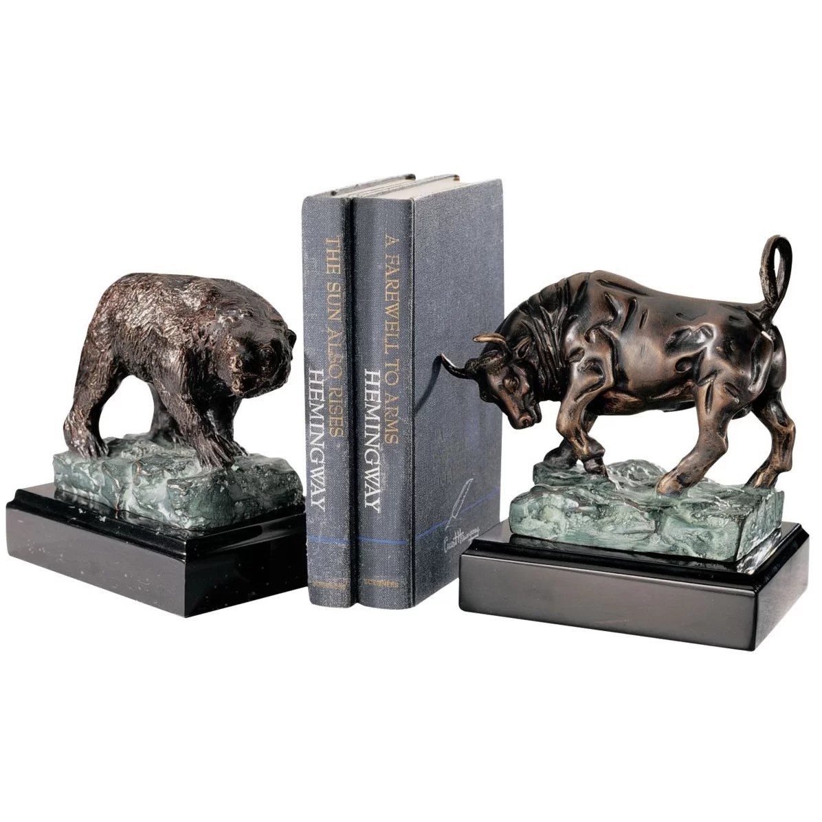 Bull And Bear Gifts Design Toscano The Bull And Bear Of Wall Street Book Ends