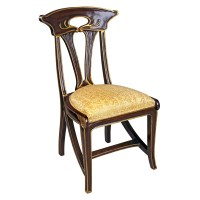 Design Toscano Majorelle Golden Art Nouveau Side Chair ...