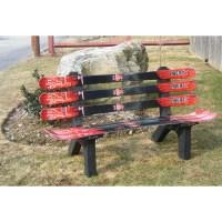 Ski Chair Snow Board Recycled Plastic Garden Bench