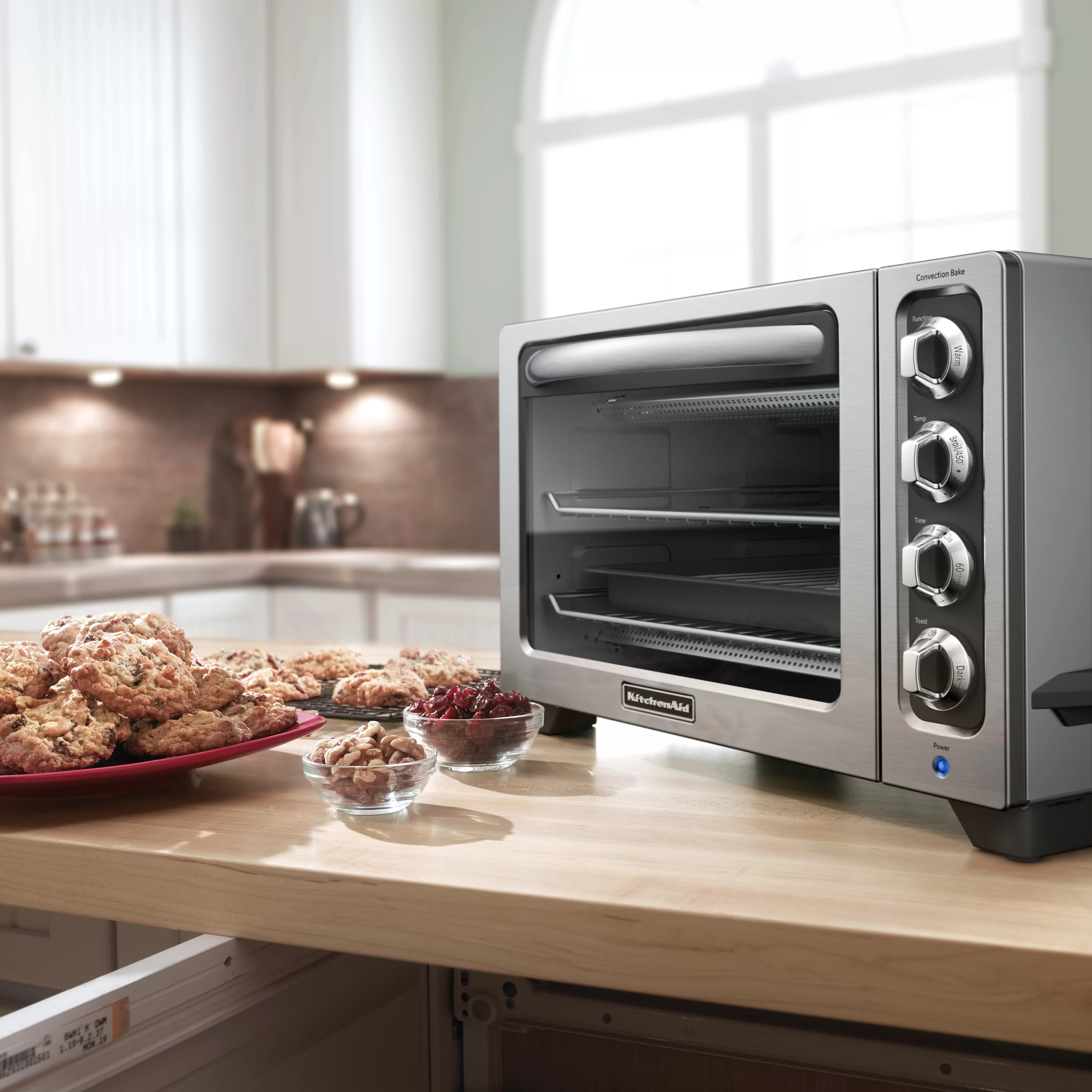 Countertop Ovens For Baking Kitchenaid 12 Quot Convection Bake Countertop Oven And Reviews