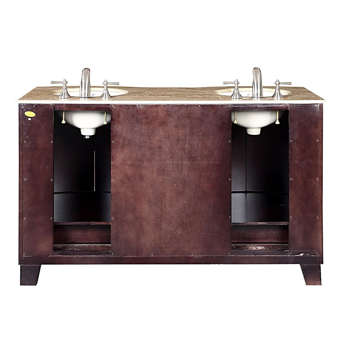 Silkroad exclusive naomi 60 quot double bathroom vanity set