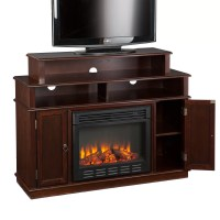Wildon Home  Lincoln TV Stand with Electric Fireplace ...
