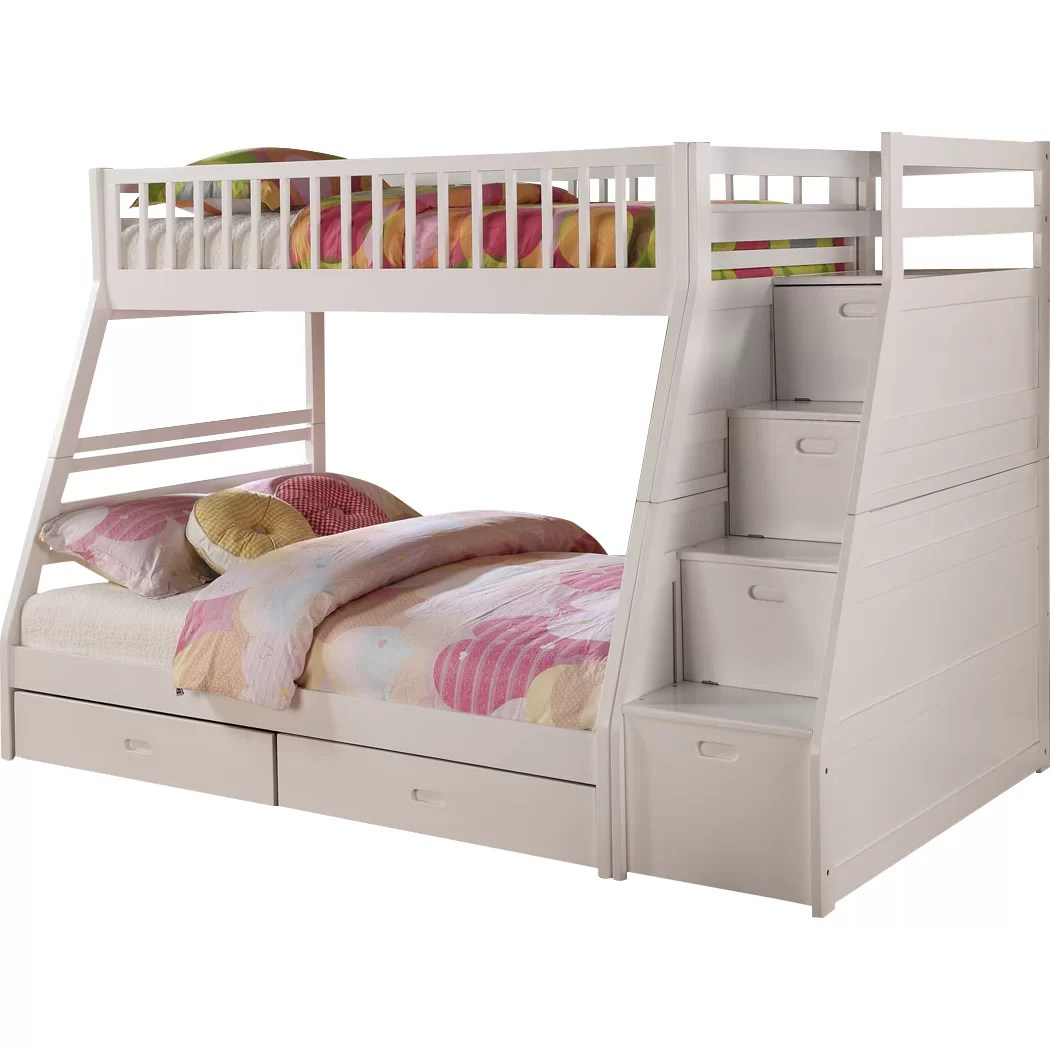 Bunk Beds With Storage Space Wildon Home Dakota Twin Over Full Bunk Bed With Storage