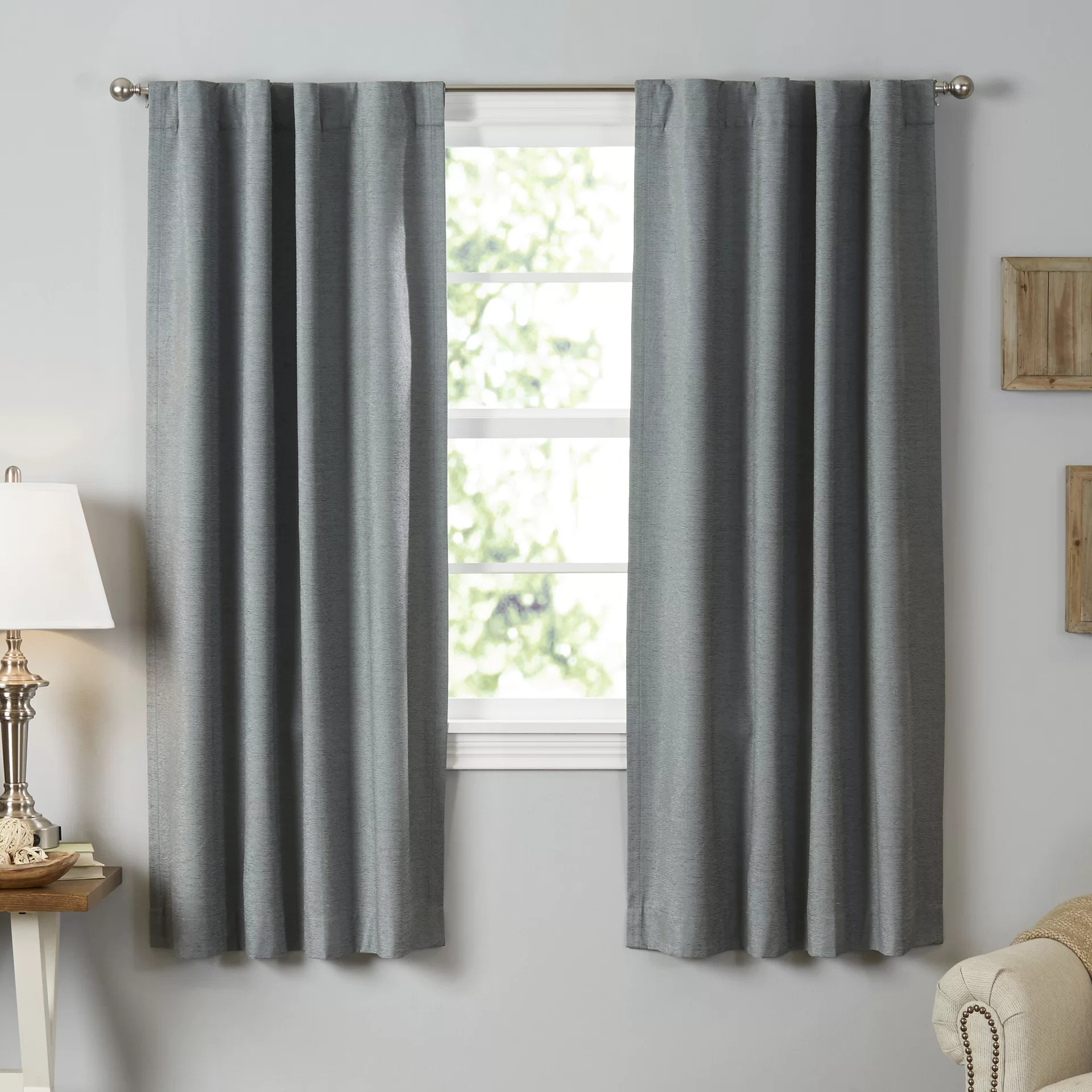 Bedroom Curtains Room Darkening Sound Asleep Room Darkening Rod Pocket Thermal Blackout