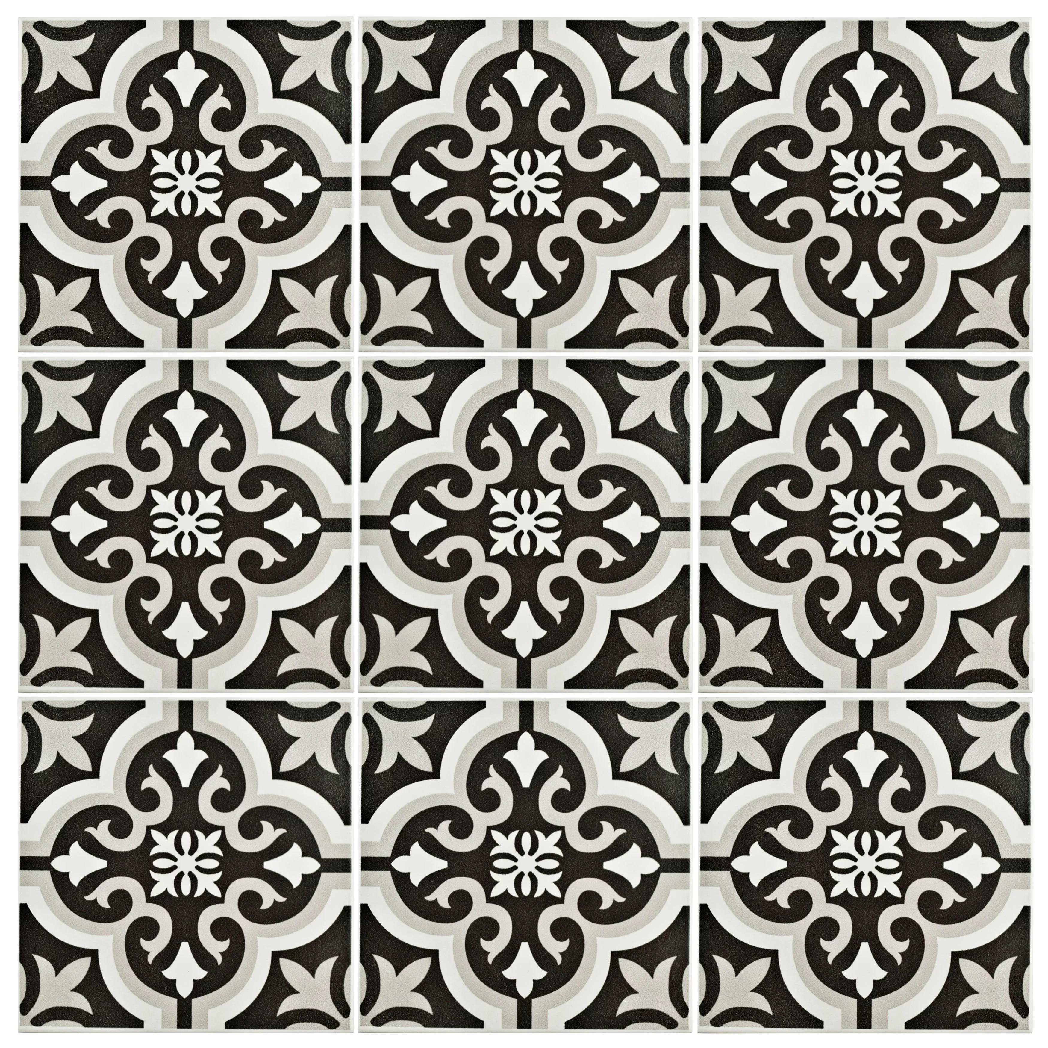 Fall Wallpaper Border Elitetile Lima 7 75 Quot X 7 75 Quot Ceramic Field Tile In Classic