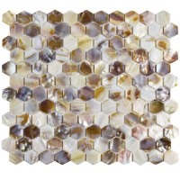 "EliteTile Shore 1"" x 1"" Seashell Mosaic Tile in Natural ..."