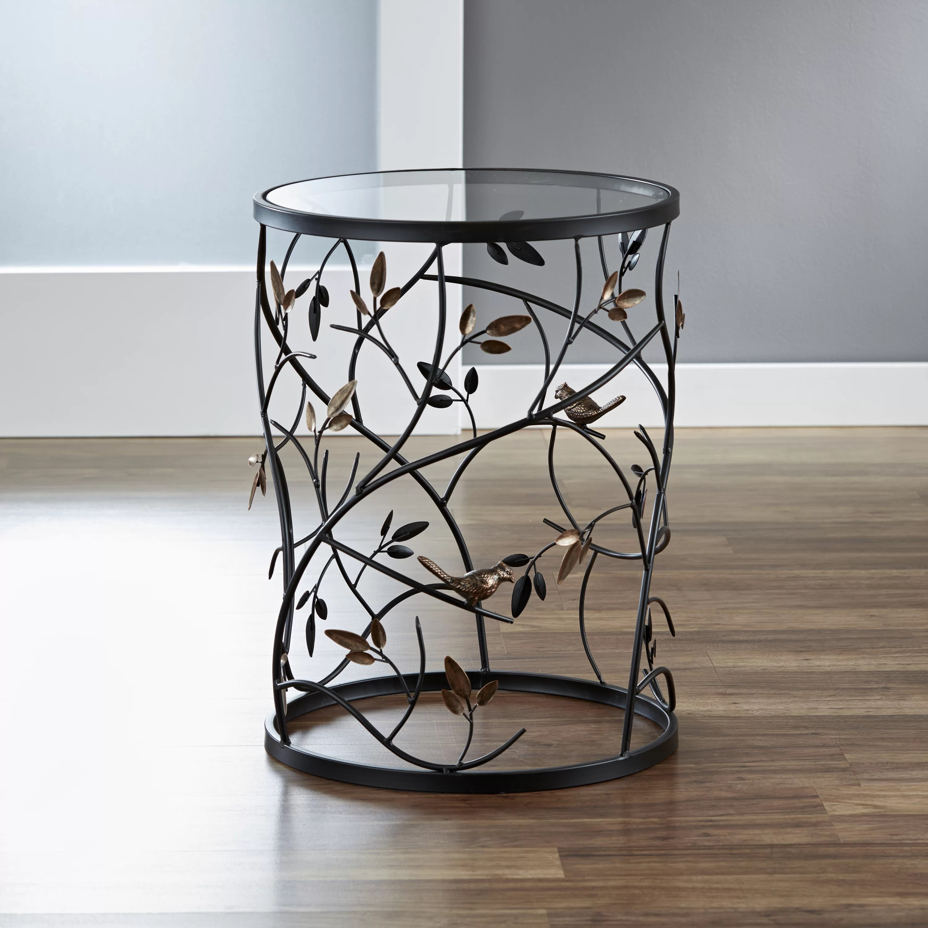 Innerspace Luxury Products Large Barrel Table With Leaves