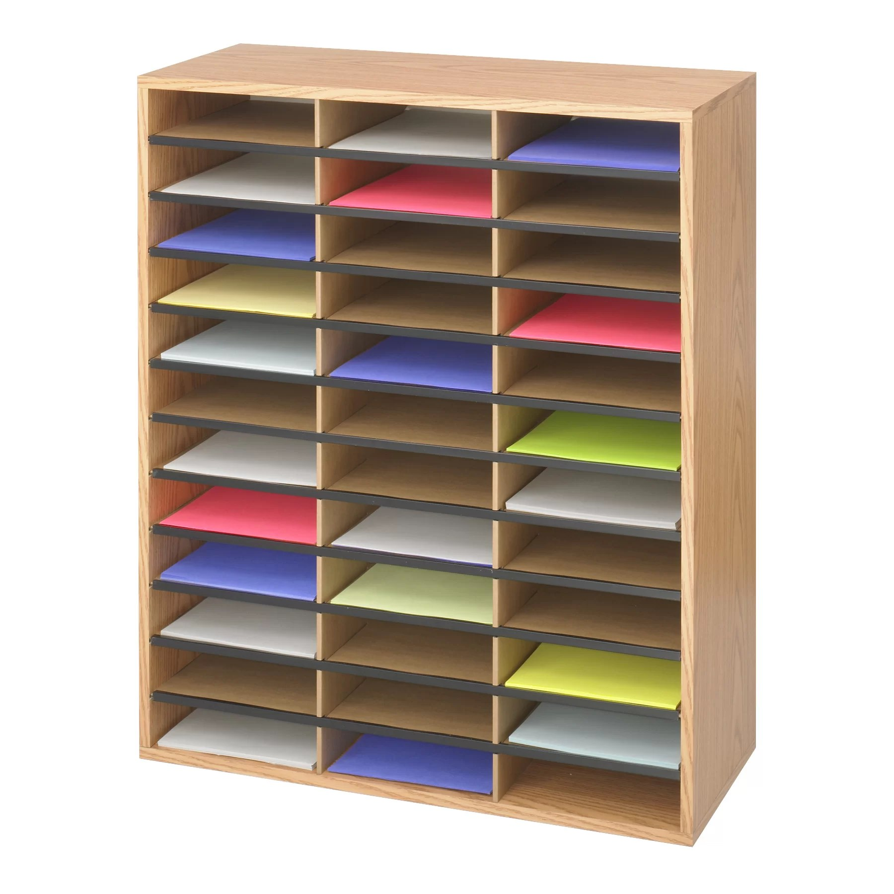 Literature Organizer Wood Safco Products Large Wood Corrugated Literature Organizer