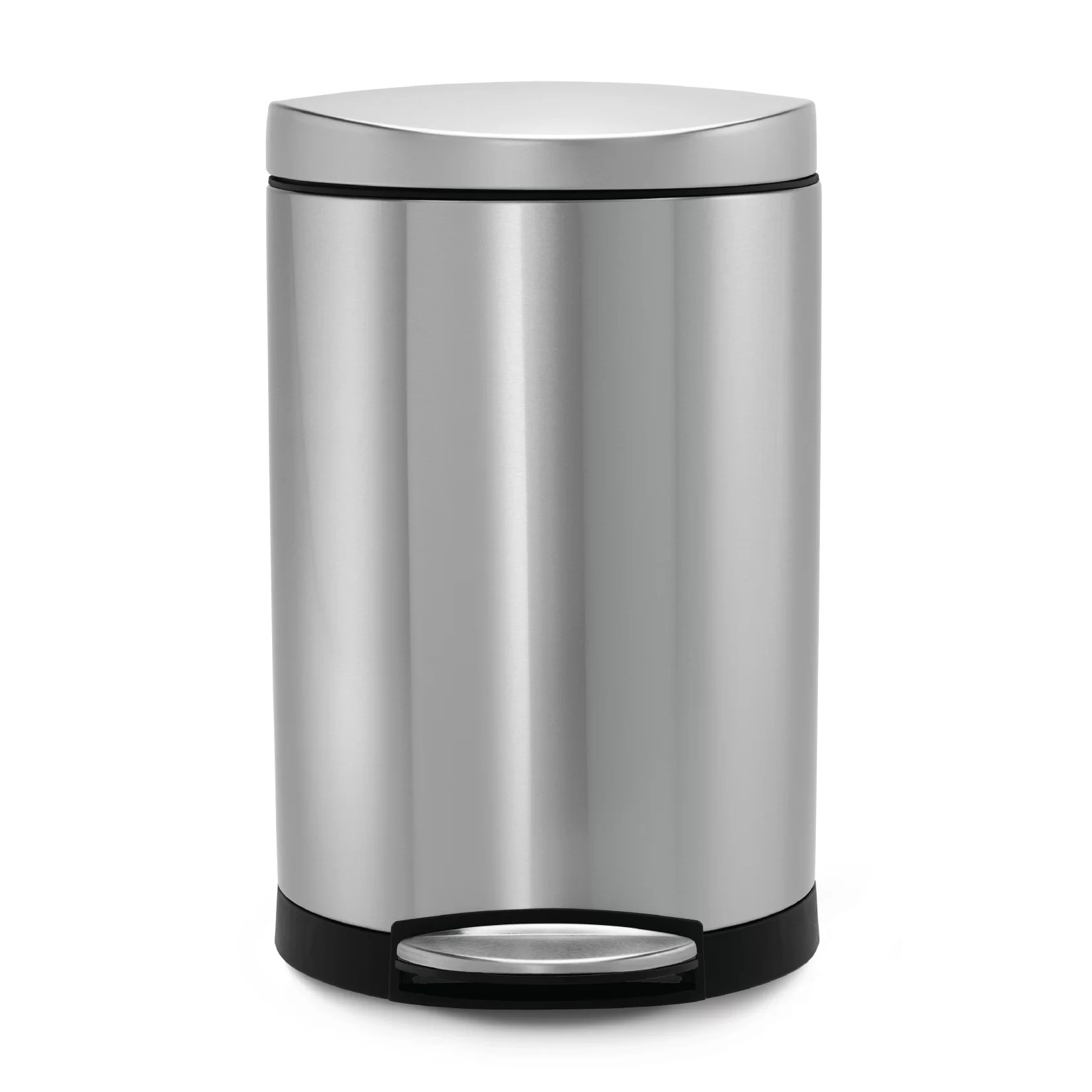 Rvs Vuilnisbak Simplehuman 2 6 Gallon Step On Stainless Steel Trash Can