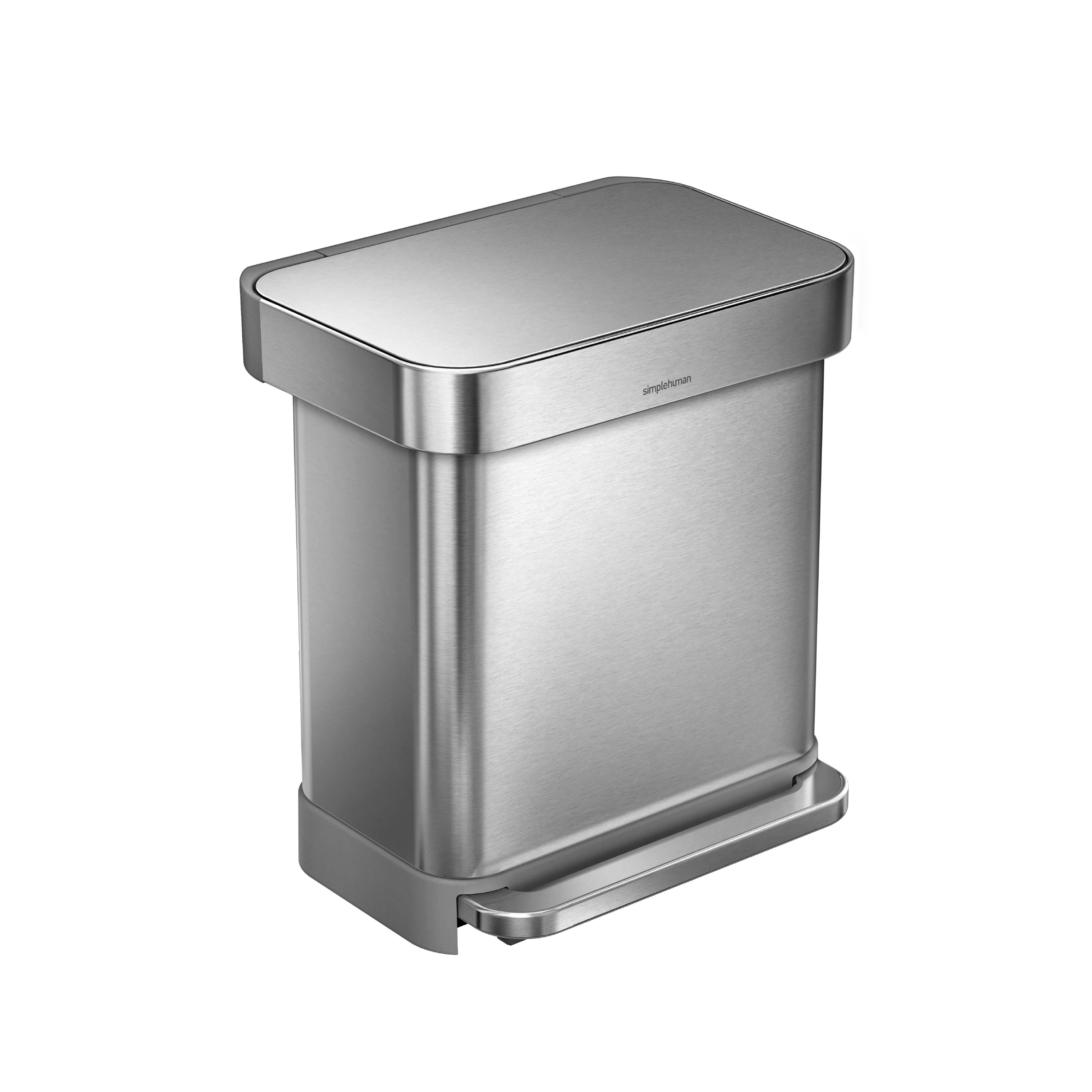 Rvs Vuilnisbak Simplehuman 7 9 Gallon Step On Stainless Steel Trash Can
